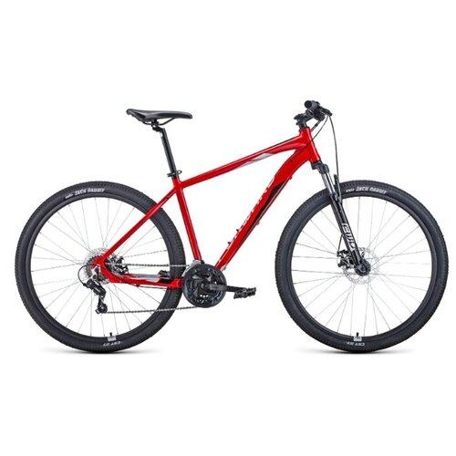 Горный (MTB) велосипед Forward Apache 2.0 Disc 29 (2020) 19 красный/серебристый (требует финальной сборки) горный mtb велосипед forward apache 27 5 1 2 s 2021 желтый зеленый 19 требует финальной сборки