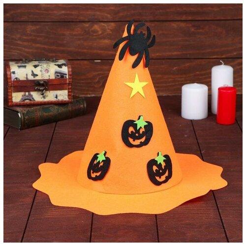 Карнавальная шляпа Тыковка с пауком 5037000 карнавальная шляпа смехторг с пайетками