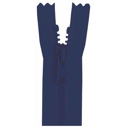 YKK Молния 4335956/55, 55 см, синяя ночь/синяя ночь ykk молния тракторная разъемная 4335956 75 75 см синяя ночь синяя ночь