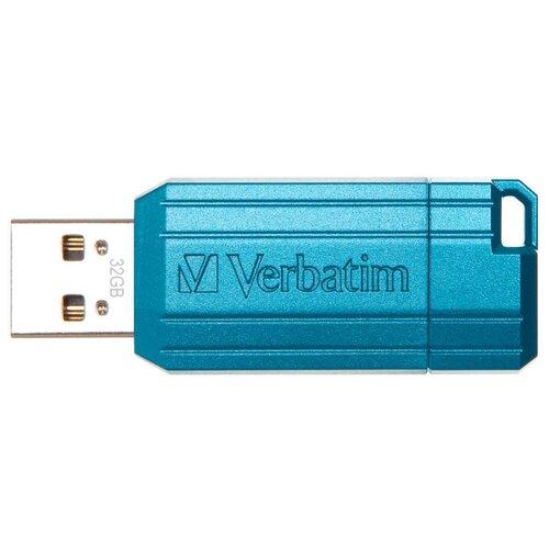 Накопитель Verbatim USB2 Flash 32GB Pin Stripe blue