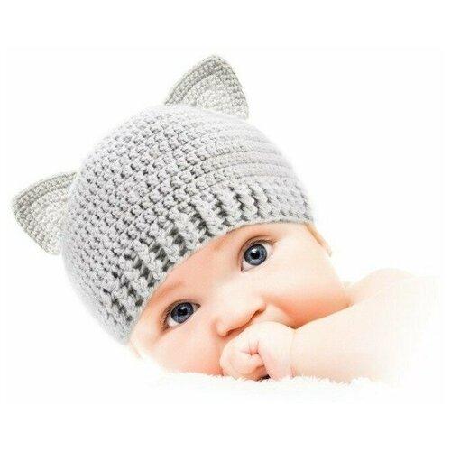 Купить Шапочка для детей и новорожденных от 0 до 3 лет Котик (набор для вязания), Викидс, Наборы для вязания