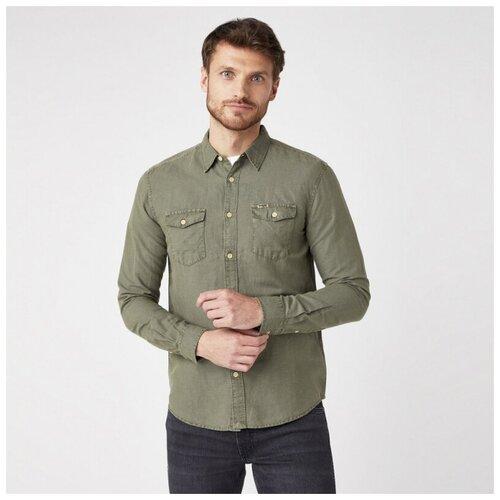 Рубашка Wrangler размер M зелeный