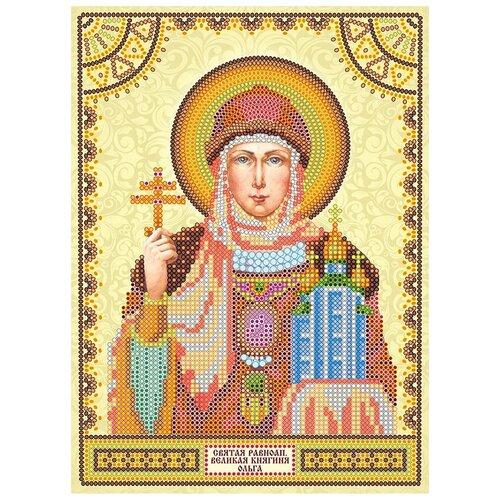 Схема для вышивки иконы бисером на холсте АБРИС АРТ АСK-011 Святая Ольга 17х23см