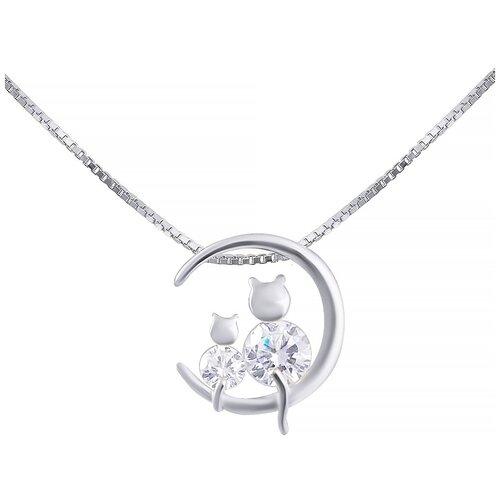 ELEMENT47 Колье из серебра 925 пробы с фианитами yl-1372_KL_001_WG, 40 см
