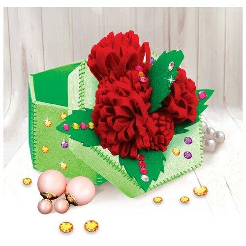 Набор для создания шкатулки из фетра «Цветы», с объемными элементами