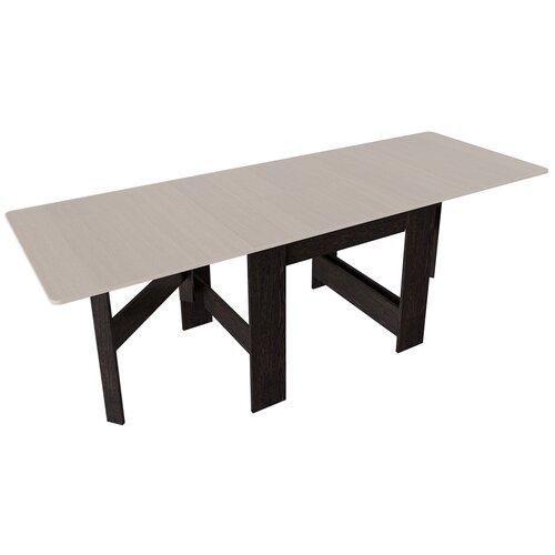 Стол кухонный ТриЯ Тип 2, раскладной, ДхШ: 34 х 80 см, длина в разложенном виде: 226 см, дуб белфорт/венге цаво стол кухонный трия т1 раскладной дхш 23 2 х 80 см длина в разложенном виде 160 см венге цаво