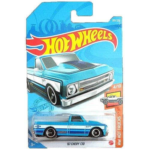 Hot Wheels Базовая машинка '67 Chevy C10, голубая mattel базовая машинка hot wheels tesla model 3
