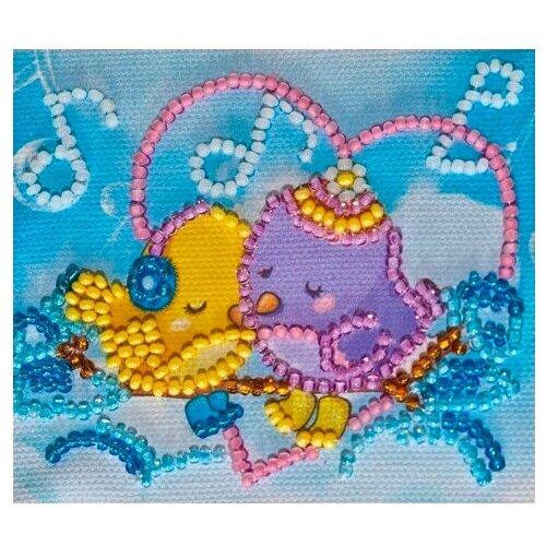 ABRIS ART Набор-магнит для вышивания Музыка любви 8 х 7 см (АМА-066)