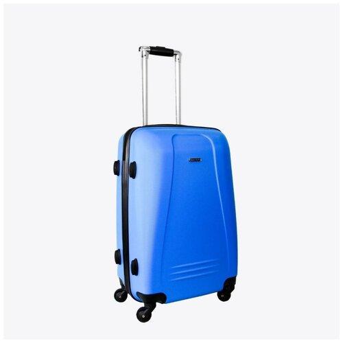 Чемодан Rion+, 416/3 голубой 22 чемодан rion 418 3 62 л голубой