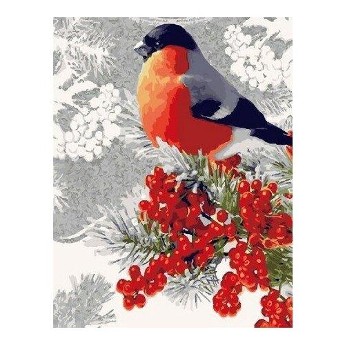 Купить Картина по номерам на холсте Paintboy Снегирь , 40х50 см, GX-23402, Картины по номерам и контурам