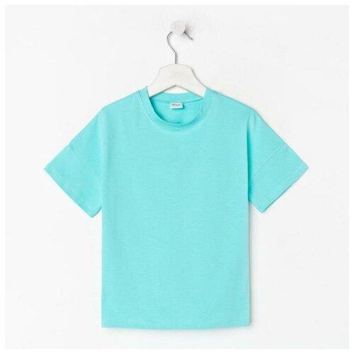 Купить Футболка Minaku, размер 116, голубой, Футболки и майки