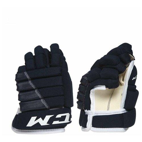 Перчатки хоккейные CCM 4R ROL YTH (9 дюйм), детские, темно-синий