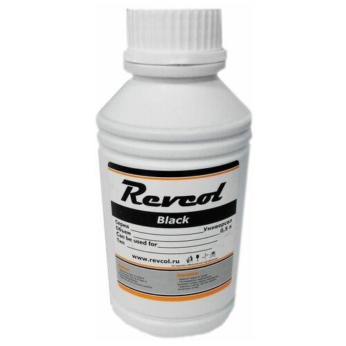 чернила для canon revcol gi 490 black dye 135 мл Чернила универсальные Revcol для HP, Canon, Lexmark, 500мл, Black Pigment