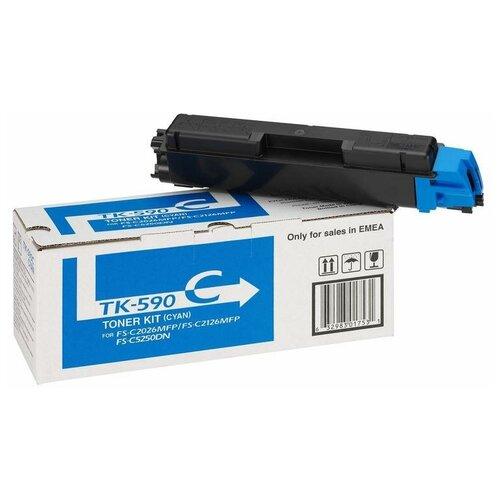 Фото - Тонер-картридж Kyocera TK-590C голубой оригинальный 1 шт. тонер картридж tk 590c