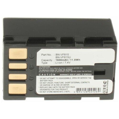 Аккумуляторная батарея iBatt 1600mAh для JVC GZ-HM200NER, для Jvc GR-D771, GR-D790, GZ-MG120, GZ-MG255AC, GZ-MG555, GZ-MG630AU