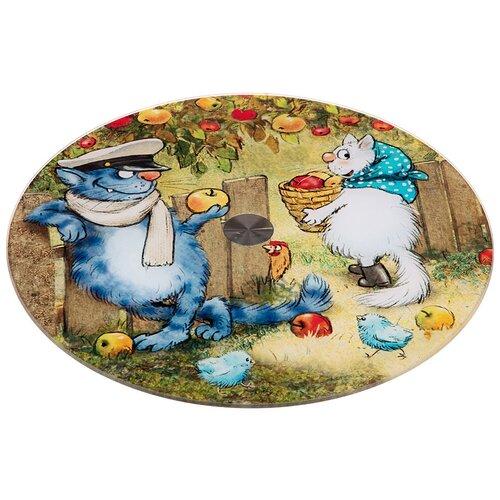 Фото - Тортовница Agness вращающаяся Синие коты, диаметр 32 см, высота 3 см (357-179) тортовница agness вращающаяся озорные коты d 32 см h 3 см 357 156
