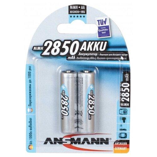 Фото - Аккумулятор ANSMANN LR6 AA 2850 mAh (уп 2 шт) аккумулятор aa fujitsu hr 3utceu 4b 1900 mah 4 штуки