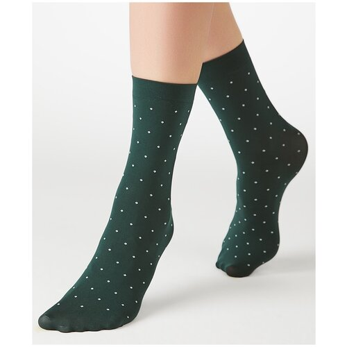 Капроновые носки MiNiMi Micro pois 70, размер 0 (one size), verde foresta