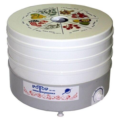 Сушилка для овощей и фруктов Ротор СШ-002, (5 поддонов, белый)