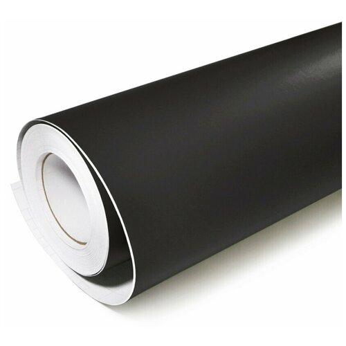 Виниловая рекламная пленка цветная матовая - для дизайна интерьера, плоттерной резки и наружной рекламы, цвет - черный, 70х152 см