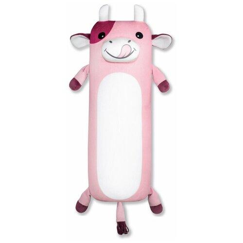 Купить Мягкая игрушка-антистресс Штучки, к которым тянутся ручки Теленок Батон большой, 54см, розовый, Мягкие игрушки
