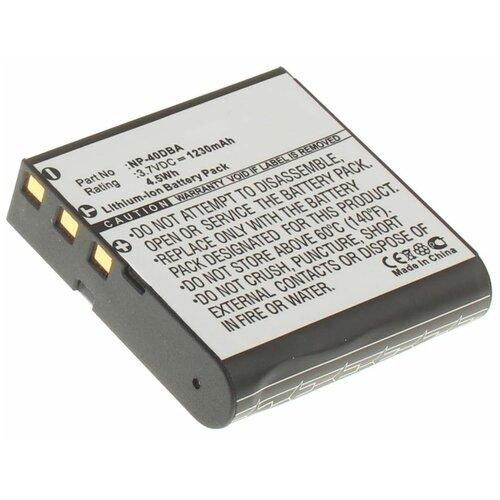 Аккумуляторная батарея iBatt 1230mAh для Casio Exilim EX-Z700, Exilim Zoom EX-Z750, Exilim EX-FC150, Exilim Zoom EX-Z1200, Exilim Zoom EX-Z55
