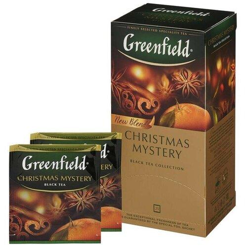 Чай Greenfield Christmas Mystery черный 25 пак. 0434-10, 501585 4 шт.