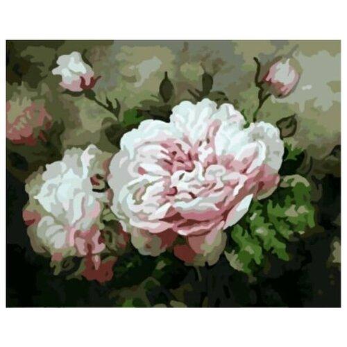 Купить Картина по номерам Цветной «Пышные пионы» (холст на подрамнике, 30х40 см), Картины по номерам и контурам