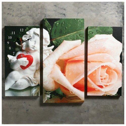Сюжет Часы настенные модульные «Ангел и роза», 60 × 80 см