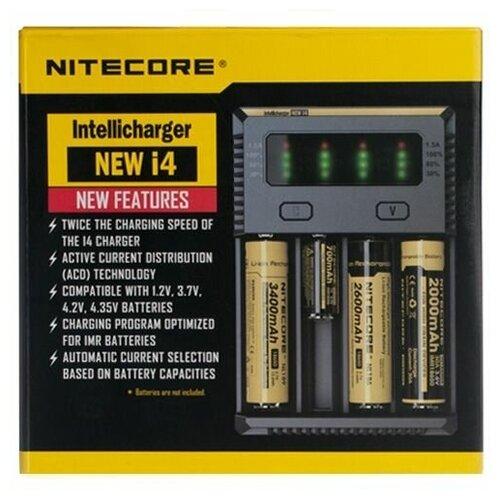 Фото - Зарядное устройство интеллектуальное NITECORE Intellicharger New i4 зарядное устройство nitecore new i4 15364