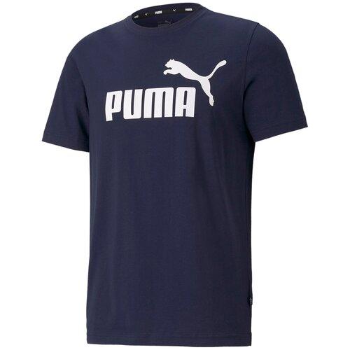 Футболка Puma Ess Logo Tee Синий XL 58666606 puma футболка женская puma ess cropped logo размер 44 46