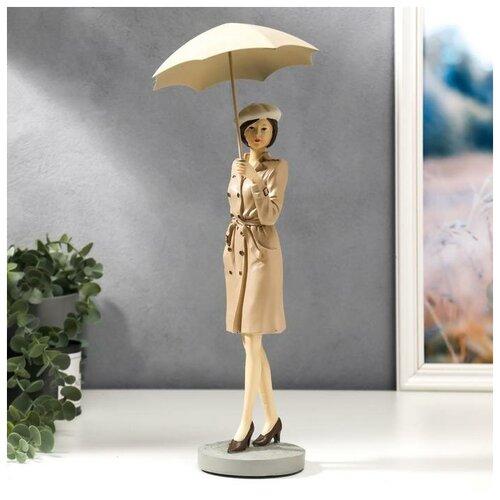 Сувенир полистоун Девушка Нина под зонтом 38х14х14 см 5185274