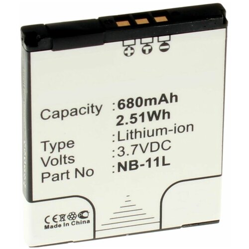 Аккумуляторная батарея iBatt 680mAh для Canon IXUS 133, IXUS 150, IXUS 127, IXUS 147, IXUS 240HS, PowerShot A4050, PowerShot ELPH 130 IS