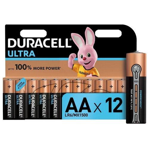 Фото - Батарейки DURACELL UltraPower AA/LR6-12BL батарейки duracell размера aa 60 шт