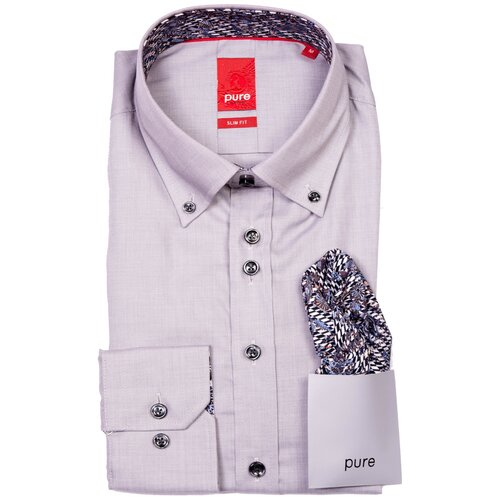 Рубашка pure размер L светло-серый