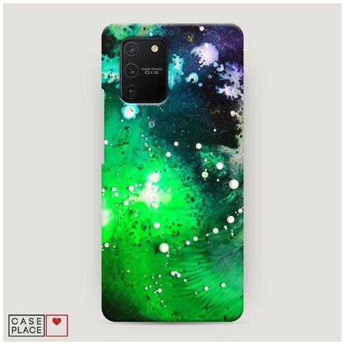 Чехол Пластиковый Samsung Galaxy S10 Lite Зеленая абстракция