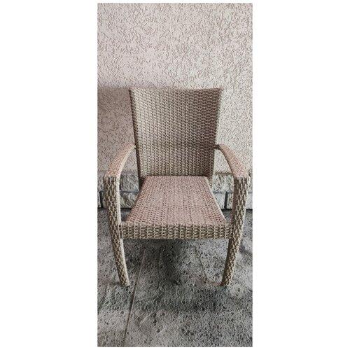 Кресло Лаос, плетеное из искусственного ротанга индийское дерево
