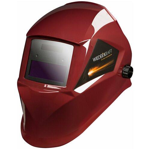 Маска WIEDERKRAFT сварочная хамелеон 90x35мм, солн.бат.,Li-ion аккумулятор, DIN 11 WDK-Beta Ф1 сварочная маска kemppi beta e90p 9873022