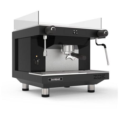 Кофемашина рожковая профессиональная полуавтомат для дома и кофейни Sanremo ZOE 1GR SAP, 1 группа, черная