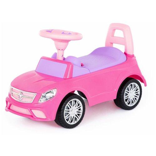 Каталка-автомобиль Полесье SuperCar №3, со звуковым сигналом, розовая недорого