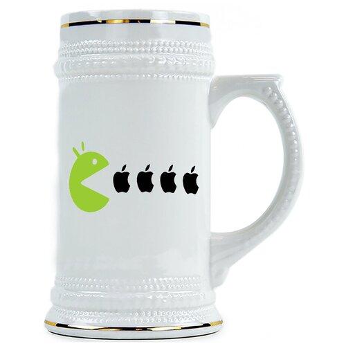 Пивная кружка Пакмен есть яблоки Apple