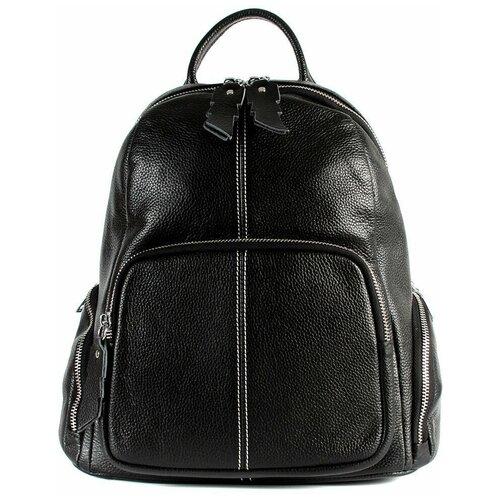 Рюкзак/Рюкзак женский/Рюкзак женский натуральная кожа/MEYNINGER/КС-2045/черный/модель рюкзак/городской