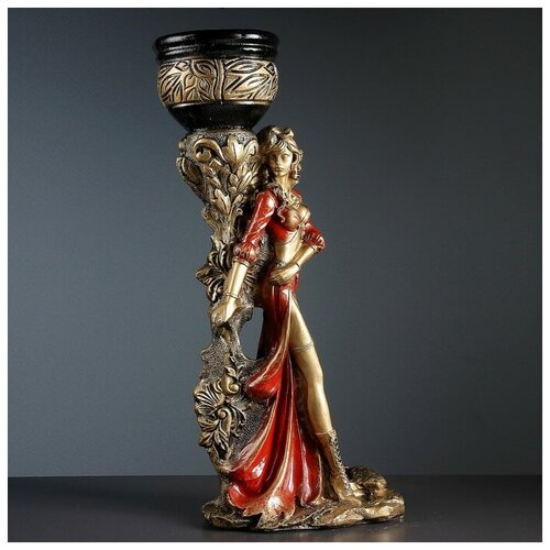Хорошие сувениры Фигура с кашпо Девушка Диана бронза-красный 80см фигура с кашпо гречанка большая бронза 88см 4253601