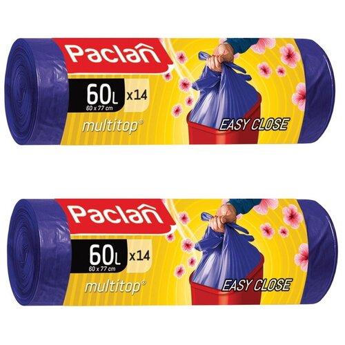 Фото - Комплект Paclan Multitop Aroma Мешки для мусора ПНД фиолетовый 60 л. 14 шт. в рулоне х 2 шт. мешки для мусора ароматизированные 35 л ушки желтые 20 шт пвд 66х50 см paclan multitop aroma 136881