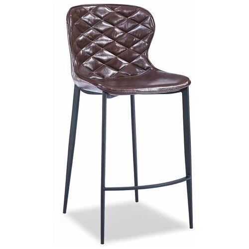 Фото - Стул полубарный Peggy (65), глянцевый шоколад/черный стул полубарный peggy 60 матовый коричневый черный