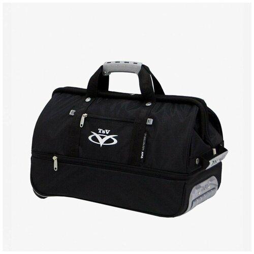 Дорожная сумка-саквояж TsV 514.32 чёрная с колёсами