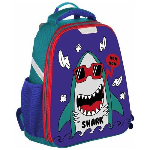 Ранец №1School Basic Shark 2 отд, №1 School, Рюкзаки, ранцы  - купить со скидкой