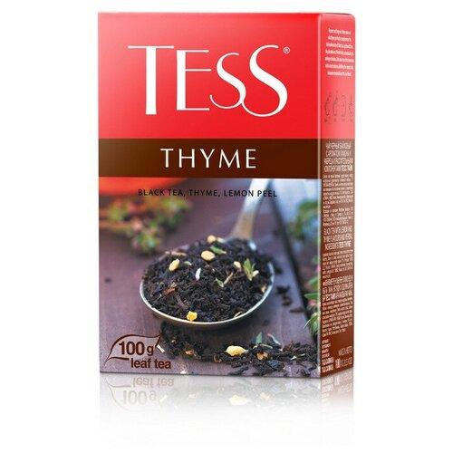 Чай Tess Thyme листовой черный с добавками,100г 1130-15 2 шт. чай хайсон саусеп чёрный листовой c добавками 100г карт