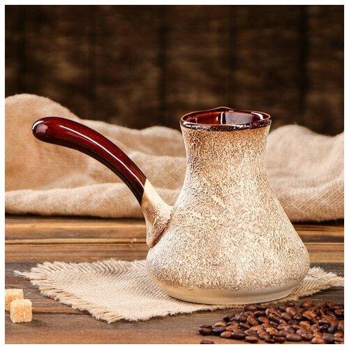 Фото - Кофейный набор Керамика ручной работы Мюзле, под шамот, 3 предмета: турка 0,5 л, чашки 0,2 л бокал евро рыбак под шамот 1 5 л 3298943