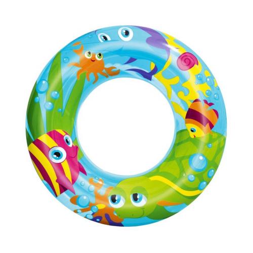 Фото - Надувной круг Рыбы 56 см, от 3 до 6 лет, BestWay, арт. 36013-рыбы, круг надувной bestway 36057 76 см